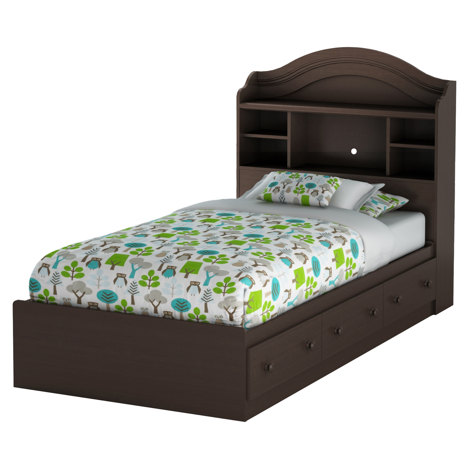 Savannah Twin Mates Bed - 3 Drawers, Espresso - SS-3519A1