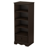 Savannah Shelving Unit with Drawer - Espresso - SS-3519C1