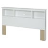 Crystal Full Bookcase Headboard - Pure White - SS-3550093