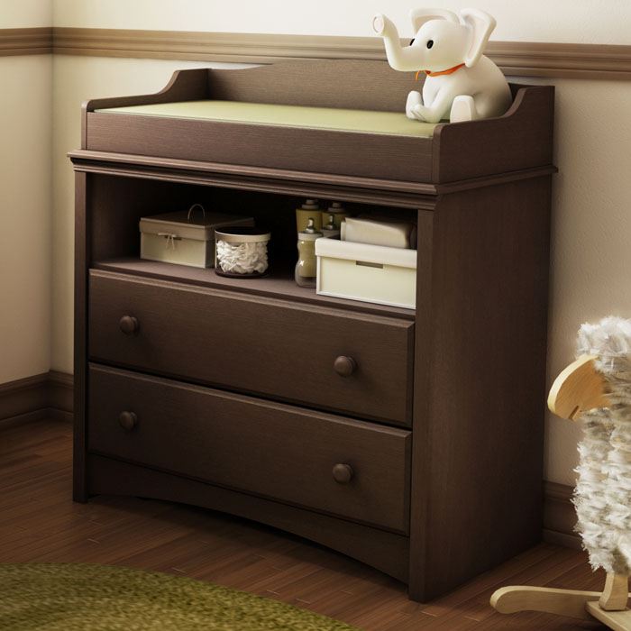 Angel Espresso Changing Table with 2 Drawers - SS-3559331