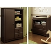 Angel Changing Table and Armoire - Espresso - SS-3559C2