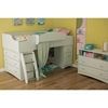 Imagine Twin Loft Bed with Storage and Chest - Pure White - SS-3560A3