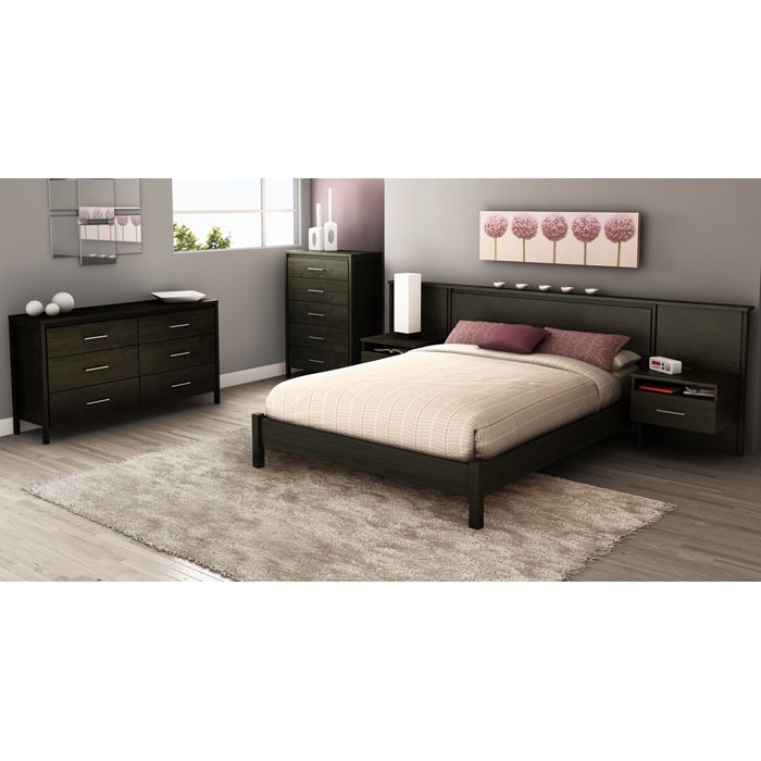 Gravity Queen Headboard with Built-In Nightstands - SS-3577069
