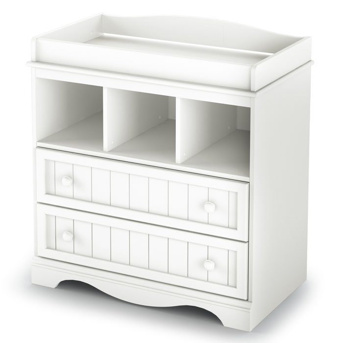 Savannah White Changing Table and Armoire Set - SS-3580330-3580038