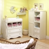 Savannah White Changing Table and Armoire Set
