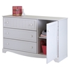 Savannah 3 Drawers Dresser - Door, Pure White - SS-3580028