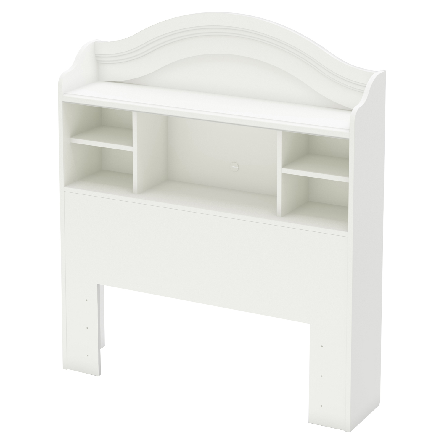 Savannah Twin Bookcase Headboard - Pure White - SS-3580098