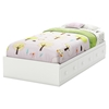 Savannah Twin Mates Bed - 3 Drawers, Pure White - SS-3580A1