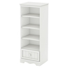 Savannah Shelving Unit with Drawer - Pure White - SS-3580B1