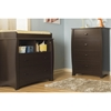 Beehive Changing Table and 4 Drawers Chest - Removable Station, Espresso - SS-3619A2
