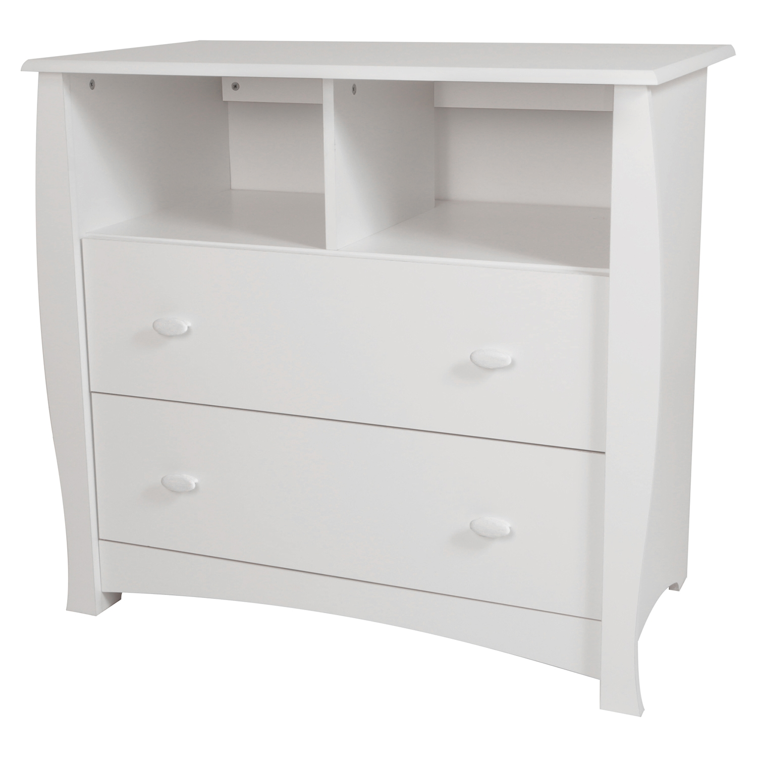 Beehive Changing Table and 4 Drawers Chest - Removable Station, Pure White - SS-3640A2