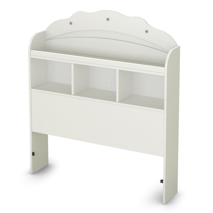 Tiara Bookcase Headboard in White