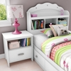 Tiara Bookcase Headboard in White - SS-3650098