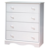 Heavenly White 4-Drawer Chest - SS-3680034