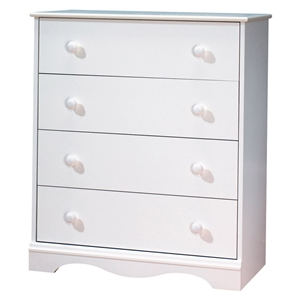 Heavenly White 4-Drawer Chest