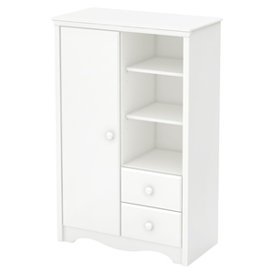 Heavenly Armoire - 2 Drawers, Pure White