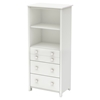 Little Smileys Shelving Unit - 3 Drawers, Pure White - SS-3740022