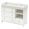 Little Smileys Changing Table - Removable Changing Station, Pure White - SS-3740337