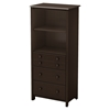Little Smileys Shelving Unit - 3 Drawers, Espresso - SS-3759022