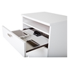 Reevo Nightstand - Drawers and Cord Catcher, Pure White - SS-3840060
