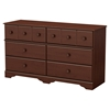 Little Treasures 6 Drawers Double Dresser - Royal Cherry - SS-3846027