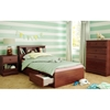 Little Treasures Twin Bookcase Headboard - Royal Cherry - SS-3846098