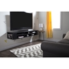 "City Life 66"" Wide Wall Mounted Media Console - Black Oak - SS-4147677"