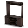 Vertex Chocolate Brown Corner Entertainment Stand - SS-4269629