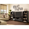 City Life Black Bookcase/Media Storage - SS-4270651