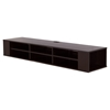 "City Life 66"" Wide Wall Mounted Media Console - Chocolate - SS-4419677"