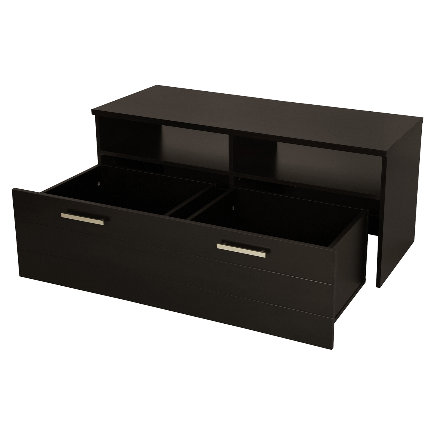 Jambory TV Stand - Storage Bins, Casters, Chocolate - SS-4919605