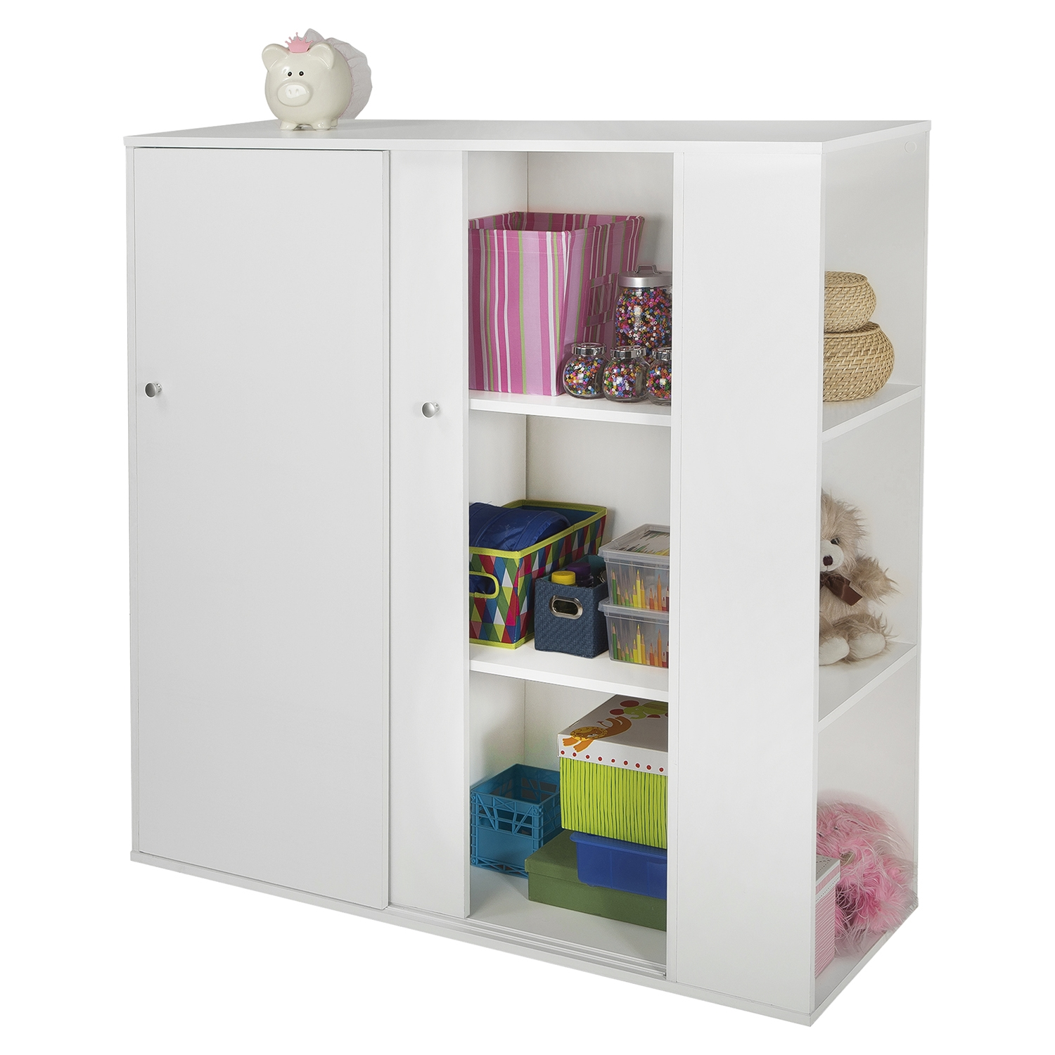 ... Storit Kids Storage Cabinet   2 Sliding Doors, Pure White   SS 5050047  ...