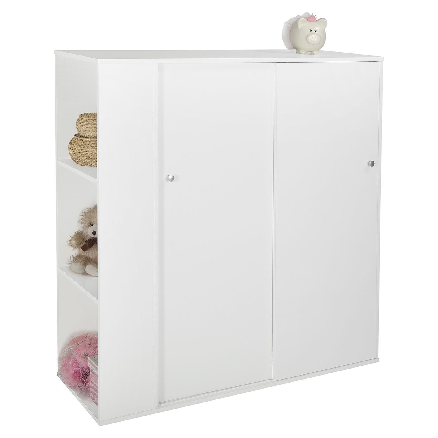 Storit Kids Storage Cabinet - 2 Sliding Doors, Pure White - SS-5050047