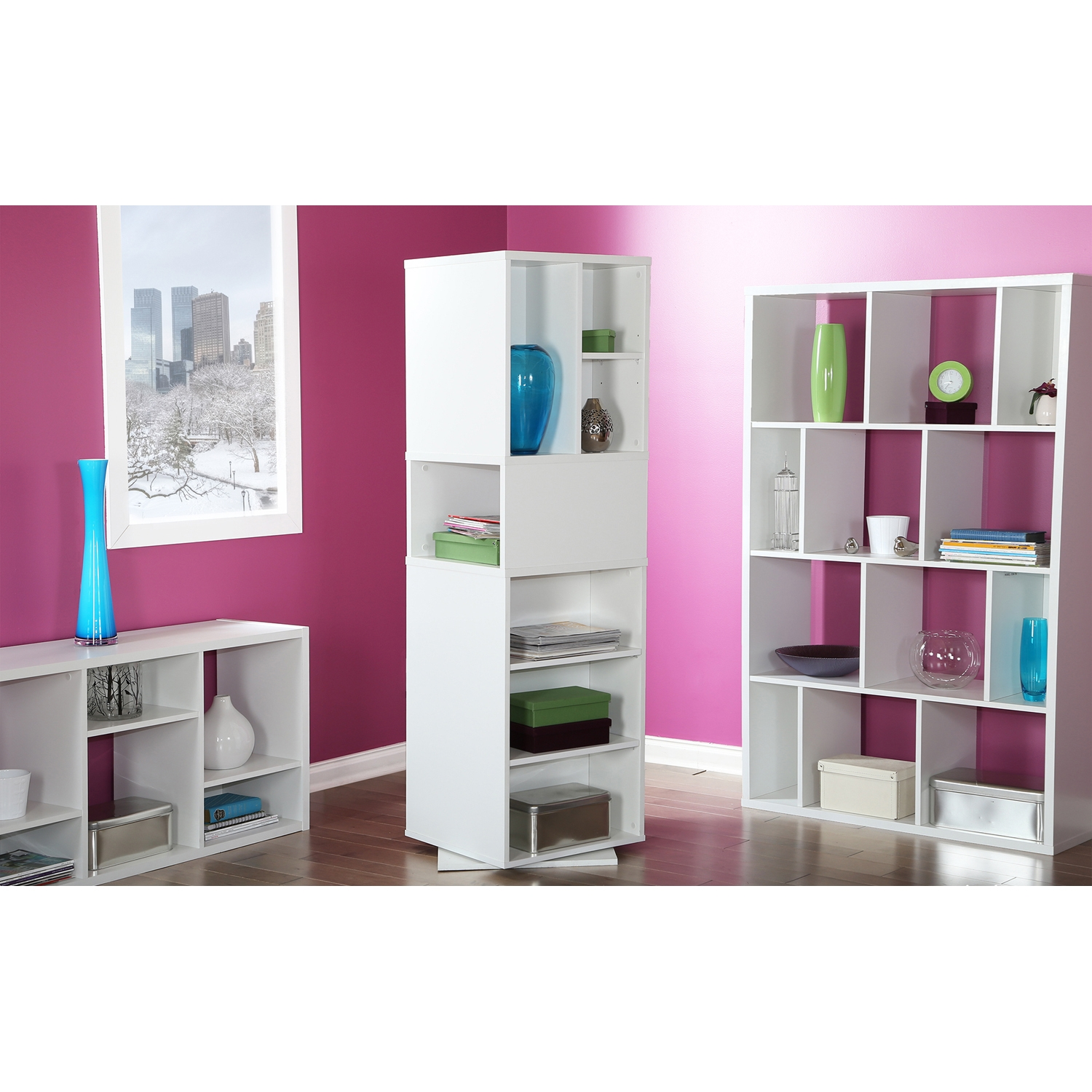 Reveal Shelving Unit - 12 Compartments, Pure White - SS-5150730