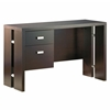 Element Chocolate Brown Desk With Metal Accents