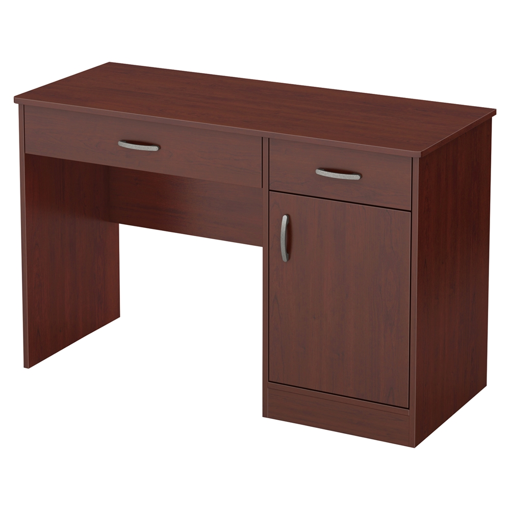 axess small desk 2 drawers 1 door royal cherry dcg stores. Black Bedroom Furniture Sets. Home Design Ideas