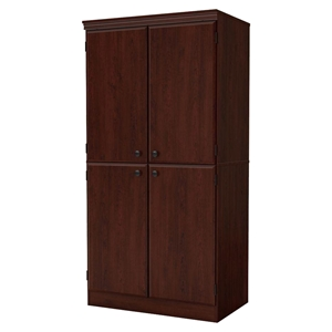 Morgan 4 Doors Armoire - Royal Cherry