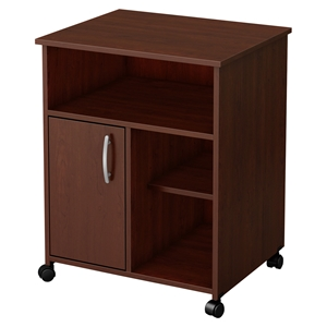 Axess Microwave Cart - Storage, Wheels, Royal Cherry