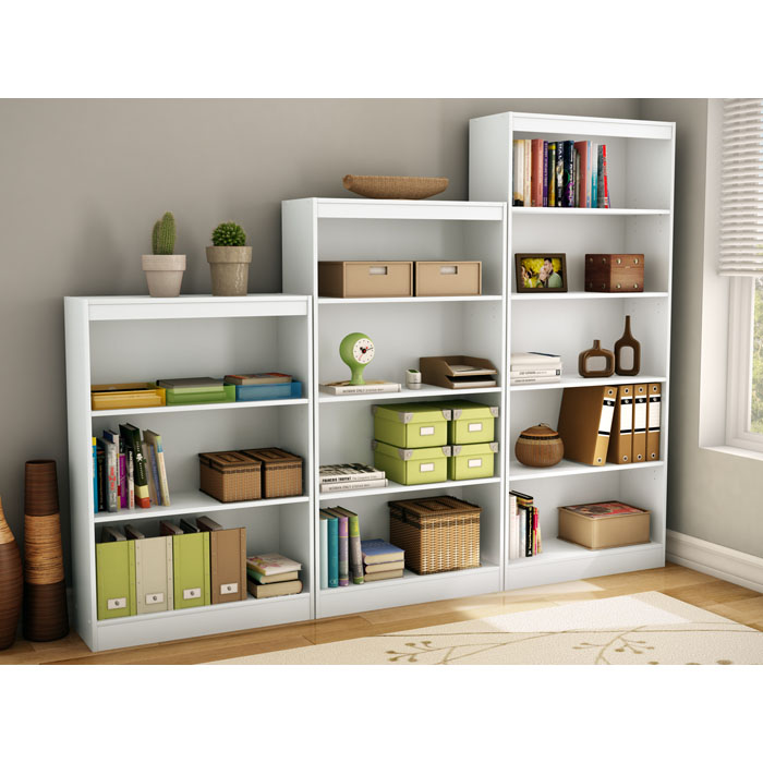 Axess White Bookcase With 4 Open Shelves Dcg Stores