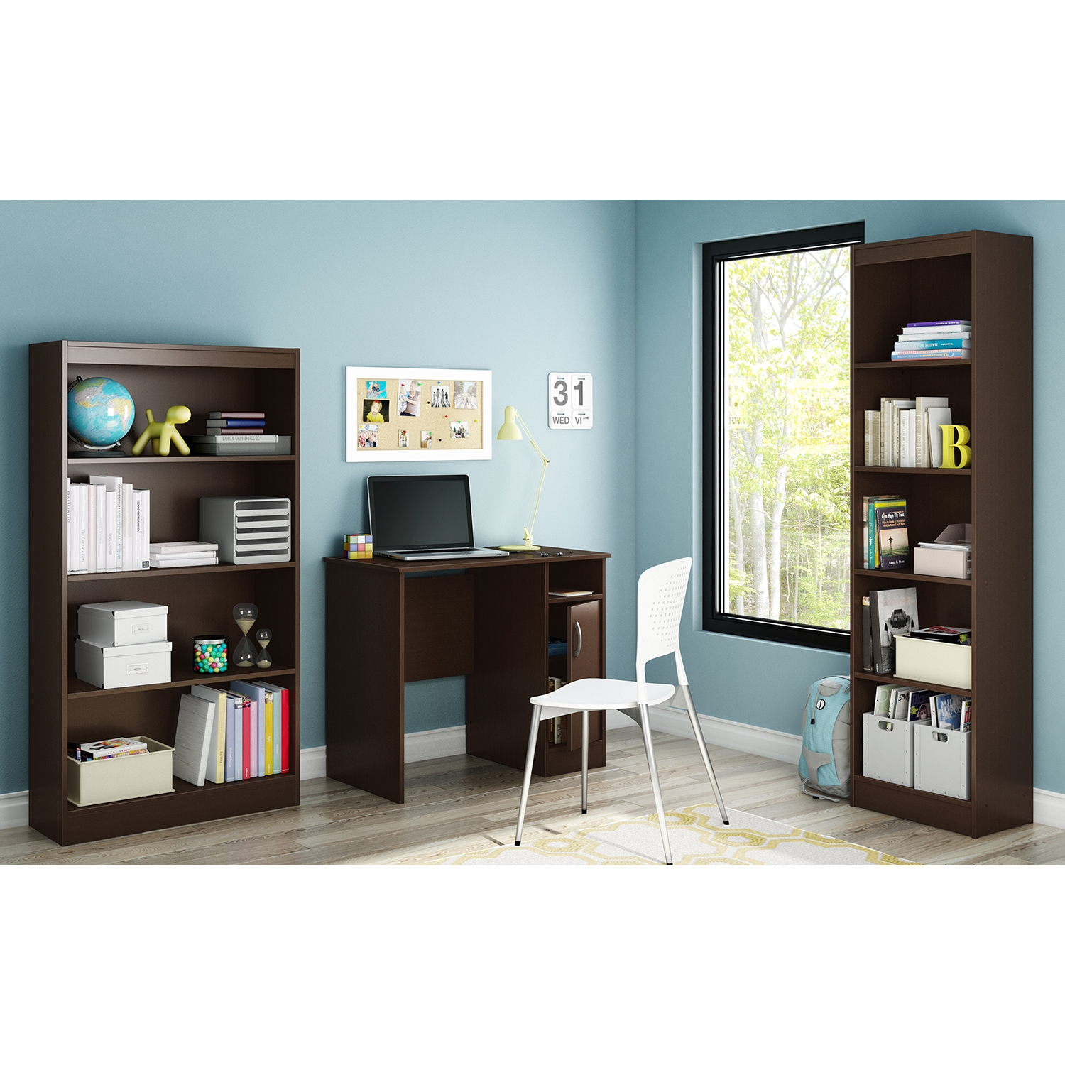 Axess Small Desk - Chocolate - SS-7259075