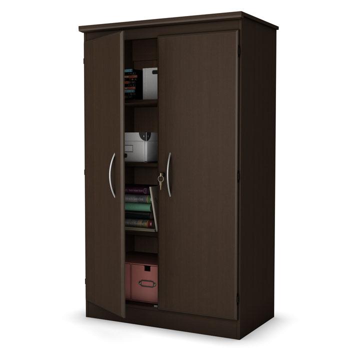 Morgan chocolate brown floor cabinet dcg stores for Chocolate brown cabinets