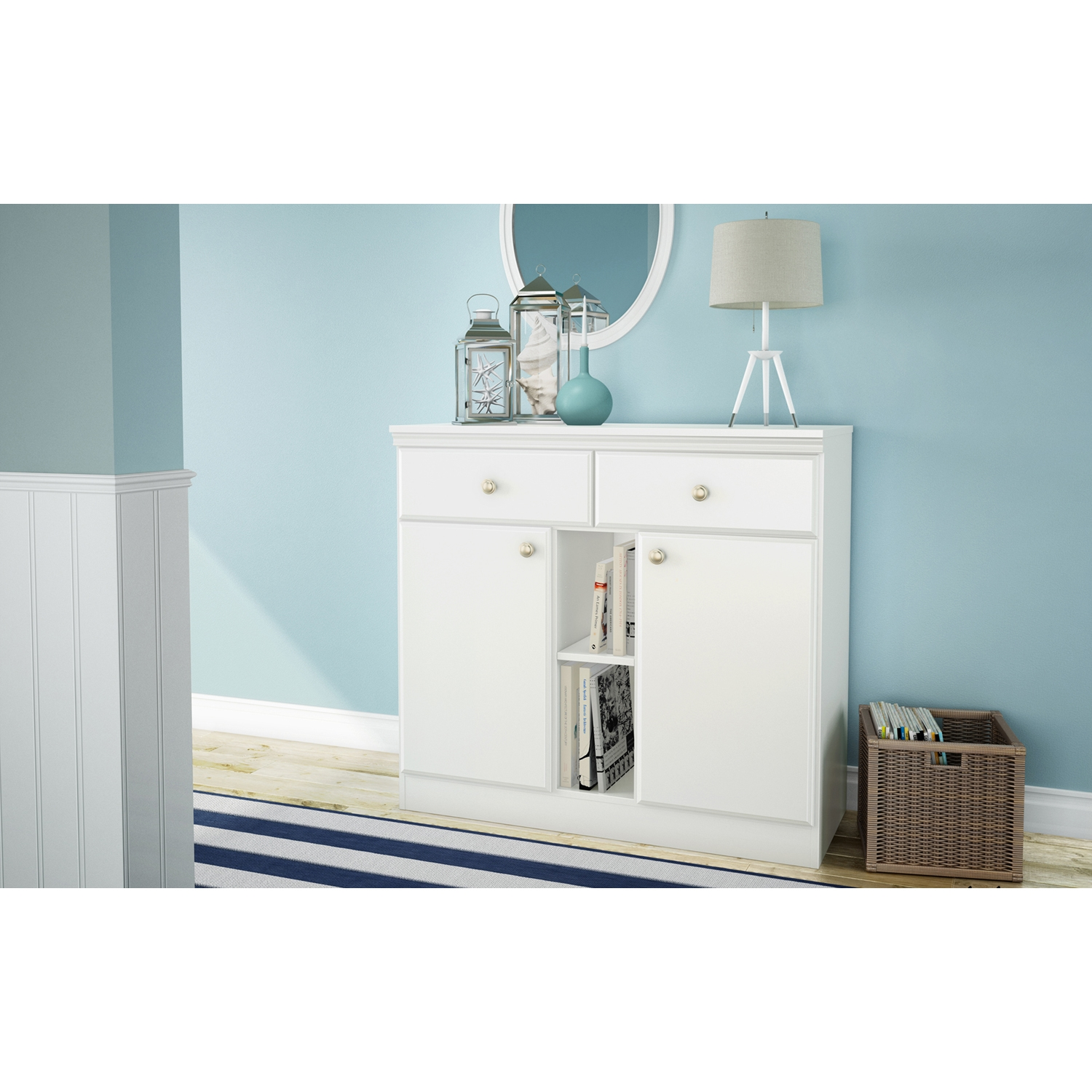 Morgan Sideboard - 2 Doors, 2 Drawers, Pure White - SS-7260770