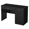 Axess Small Desk - 2 Drawers, 1 Door, Pure Black - SS-7270070