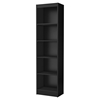 Axess 5 Shelves Narrow Bookcase - Pure Black - SS-7270758