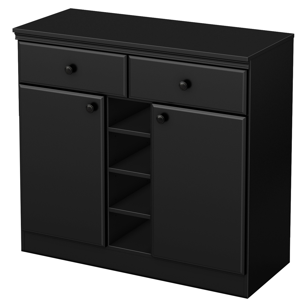 Morgan sideboard 2 doors 2 drawers pure black dcg stores - Armoire de rangement castorama ...
