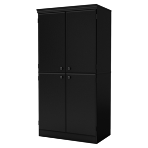 Morgan 4 Doors Storage Cabinet - Pure Black