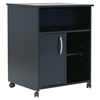 Axess Microwave Cart - Storage, Wheels, Pure Black - SS-7270B1