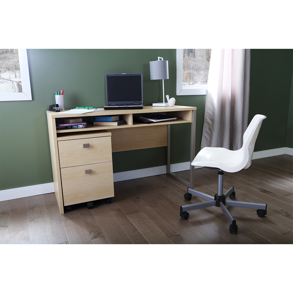 Interface office desk natural maple dcg stores - Maple office desk ...
