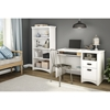 Gascony Bookcase - 4 Shelves, Pure White - SS-7360767