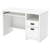 Gascony Computer Desk - Keyboard Tray, Pure White - SS-7360070